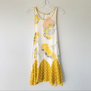 Intimately Free People Yellow Floral Slip Dress